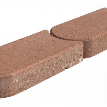 Kantsteen graskant brui/rood 22x12x4.5cm