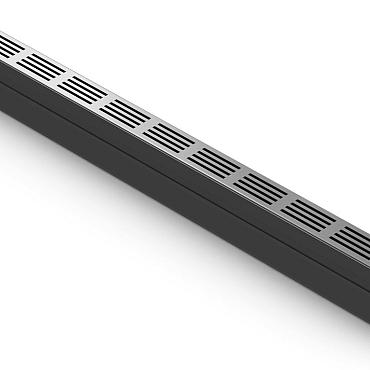 aco slim-line met blank aluminium rooster 100