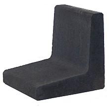 l-element zwart 40x40x40cm