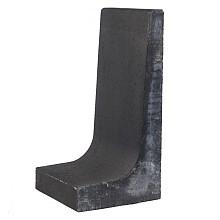 l-element zwart 80x40x40 cm