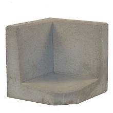 l-hoeksteen grijs 40x40x40 cm