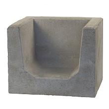 u-hoeksteen grijs 40x50x40 cm
