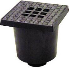 pvc vloerput 20x20 cm aansluiting 75 mm slagvast pvc zwart